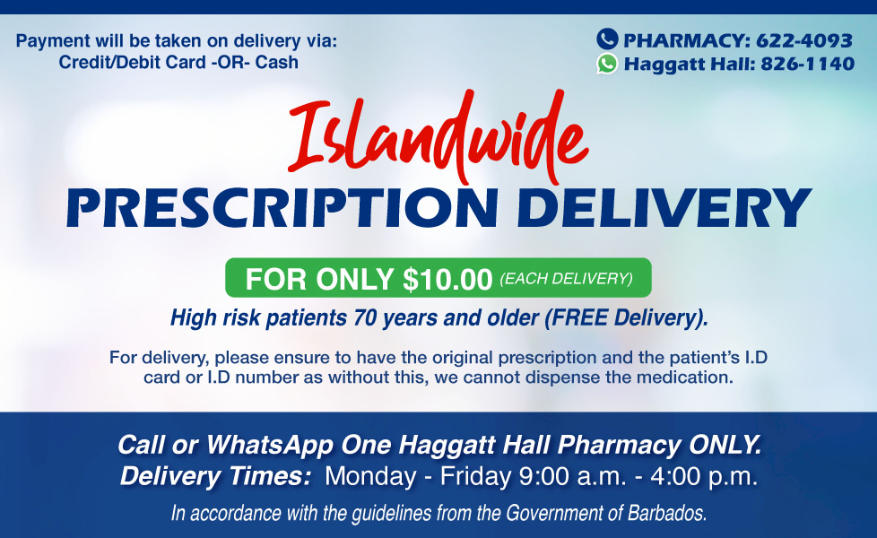 Island-wide prescription delivery now available
